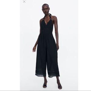 Zara Swiss dot Jumpsuit Sz M